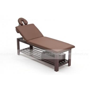 FIX-0B Стационарный массажный стол двухсекционный на деревянной раме цвета-венге