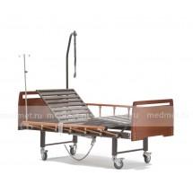 DB-10 Wood  Медицинская деревянная  кровать с туалетом и с электроприводом секций спины и ног, дерево, Серия Домашняя Забота