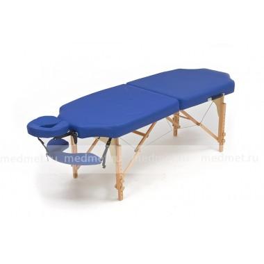JF-Tapered Массажный стол облегченный складной на раме из бука,синий однотонный