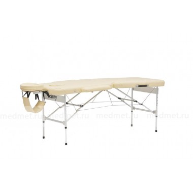 JF-AL01F Массажный  двухсекционный облегченный стол на алюминиевой раме, синий однотонный