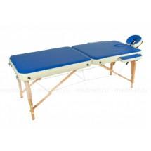 JF-AY01/3 Массажный стол деревянный переносной облегченный, синий/бежевый