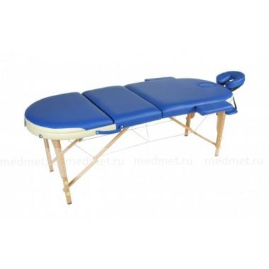 JF-OvalМК Стол массажный складной трехсекционный на буковой раме, 2 цвета мультиколор