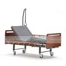 E-8 Wood Кровать медицинская c механическим приводом секций спины и ног с принадлежностями, дерево-бук, Серия Домашняя Забота