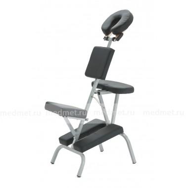 МА-01 Массажная скамья складная алюминиевая черная