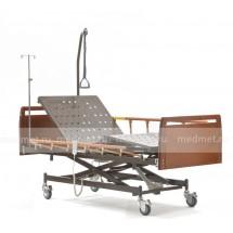 DB-6 Wood Кровать медицинская с деревянными спинкамии с электроприводом подъема спины и ног , Серия Домашняя Забота