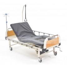 NV-43T Кровать медицинская механическая c туалетом, функция кардио-кресло с подъемом спины и ног