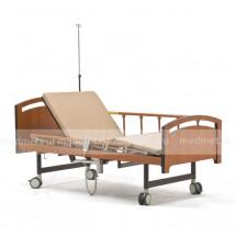 NV-4AT Кровать медицинская  с электроприводом туалетного устройства с подъемом спины и ног