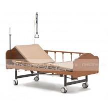 NV-YG5TW  Кровать медицинская с туалетным оснащением и с подъемом спинной секции, деревянная, Серия Домашняя Забота