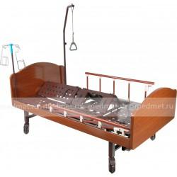 YG-5 Wood  Кровать медицинская c функцией ПЕРЕВОРОТА с туалетным оснащением, деревянная, Серия Домашняя Забота