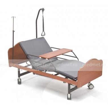 NV-4MT  Кровать медицинская механическая c туалетом и с функцией кардио-кресла, дерево, Серия Домашняя Забота