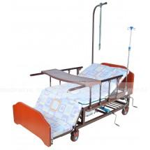 Кровать функциональная с функцией переворачивания больного, туалетом и положением кардиокресло E-45A(YG-5 PLUS WOOD)