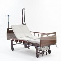 E-45/A(YG-5) Кровать медицинская c функциями ПЕРЕВОРОТА , кардио-кресла и с туалетом, деревянная Серия Домашняя Забота